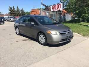 2007 Honda Civic 233KM,SAFETY+3YEARS WARRANTY INCLUDED