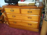 Lovely solid wood chest of drawers, sale due to house move.