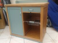 solid wooden kitchen unit