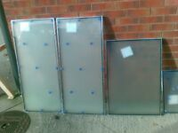Double Glazing Window Frosted Glass 4 panes, New