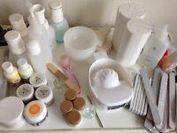 Beauty therapist nail kit/eyelash tint kit/bits and bobs