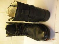 Ladies black laceup Clarks Boots size 5 1/2