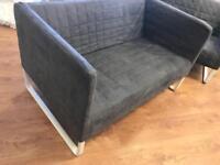 2 two seater grey ikea sofas