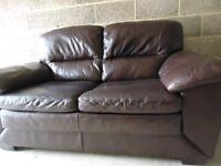 Brown Leather Sofa DV - ono