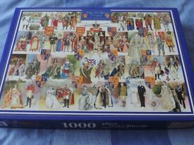 1,000 piece Jigsaw of Kings and Queens of England