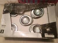 Brand new 5 tilting ceiling lights