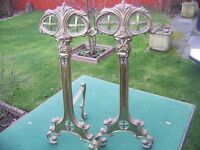 Pair of Brass FIRE DOGS - Collect NORTHAMPTON