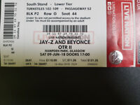 1 x Seating Ticket - Beyonce & Jay Z OTR II - Glasgow Hampden Park - Sat 9th June 2018
