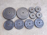 55kg of Metal Weight plates