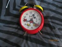 VINTAGE GERMAN DISNEY MICKEY MOUSE RED BY AVRONEL IN WORKING ORDER small bit of rust shown in pic