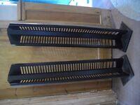 2 x CD Storage Rack Black Metal Stands