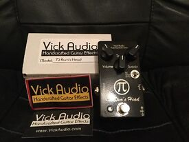Vick Audio 73 Ram's head Muff/Fuzz Pedal_ Like new with Box
