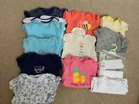 Baby girl vest bundle 9-12 months