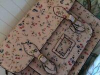 Kath kidson STYLE shoulder satchel. Light pink exterior and dark pink lining..