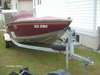 2000  16 footer 40hp evenrude and galvanise trailer very  clean