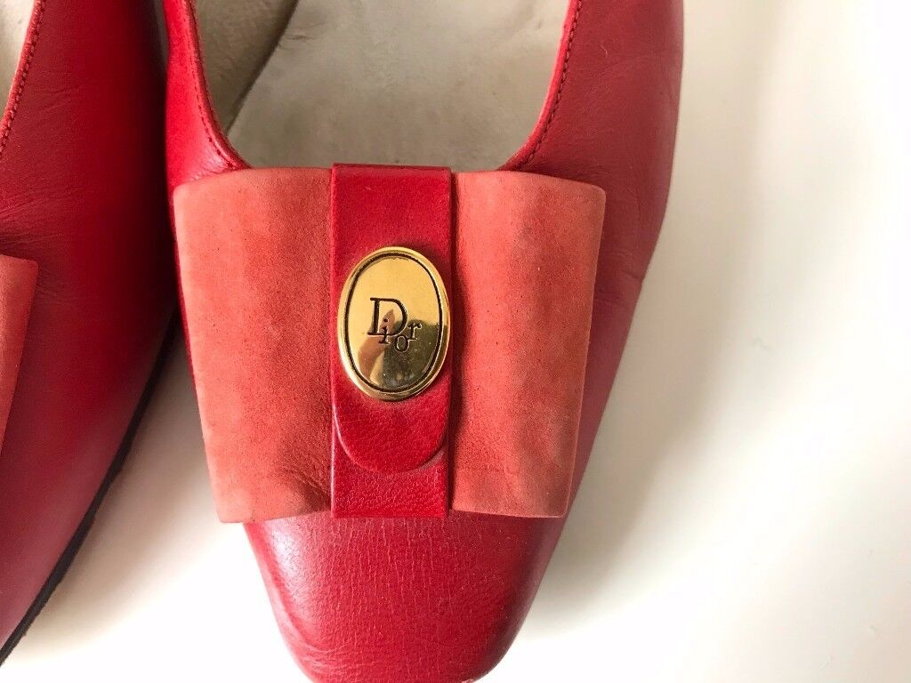 Vintage classic red leather Dior shoes (size 5)