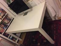 Discontinued White IKEA Extendable Bjursta Table