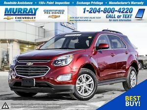 2017 Chevrolet Equinox LT *All Wheel Drive, Heated Seats, Remote