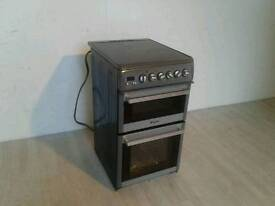 Grey Hotpoint Ceramic Top Electric Cooker