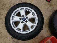 """SET OF GENUINE16"""" FORD CONNECT ALLOYS & TYRES MONDEO C-MAX VOLVO"""