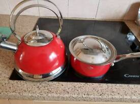 Wesco sauce pan and kettle .