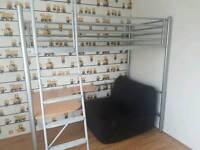 metal frame high sleeper - single bed