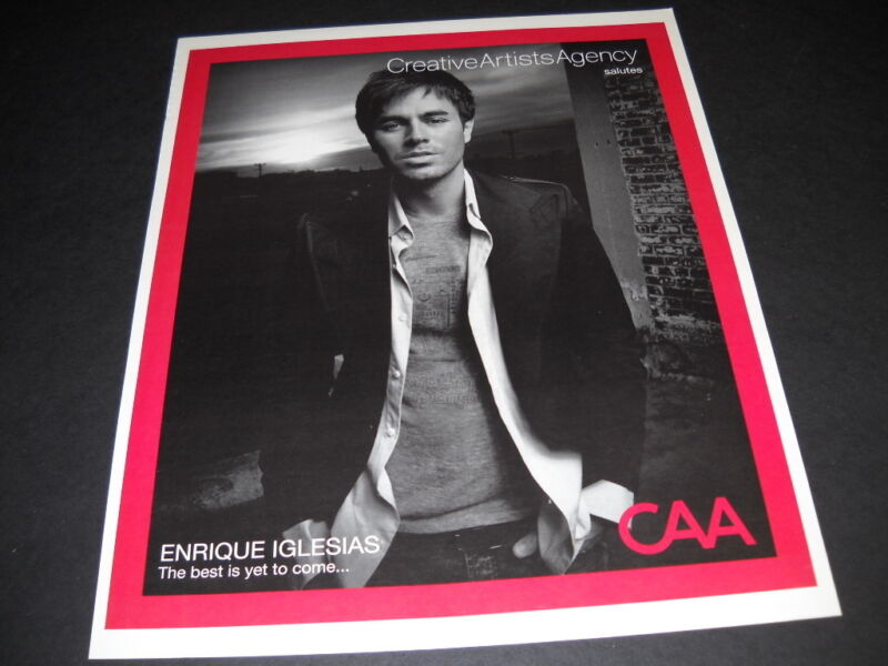 ENRIQUE IGLESIAS The Best Is Yet To Come... 2007 PROMO DISPLAY AD mint condition