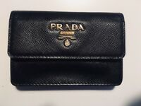 Prada business card holder genuine barely used