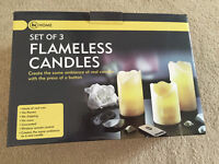NEW Set of 3 Flameless Candles