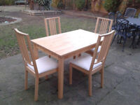 Dining Room kitchen / Dinner Room Table and 4 Chairs. Ikea (Removable Seat Pads) #FREE DELIVERY#