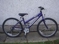 Ridgeback MX 24 bike, suit age 9 to 12 years,24 inch wheels, 21 gears, lightweight aluminium frame
