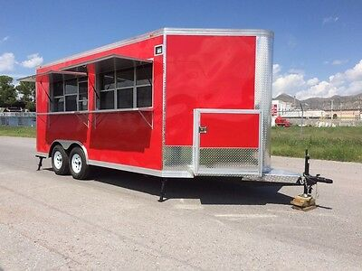New Food Trailer Catering Concession Bbq 16 X 8.5 Fully Equipped