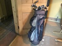 Bag of left handed golf clubs