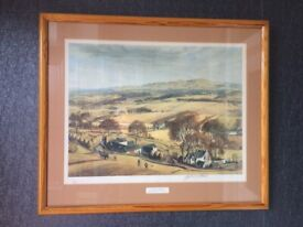 ebeeb475a5ee Luncheon Time on the Moors - Print in Gold Coloured Frame
