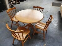Table and Chairs - Solid wood