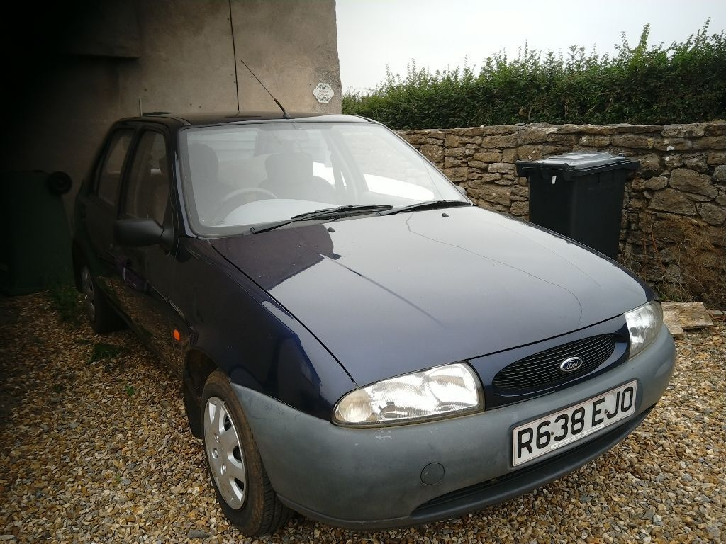 dark blue ford fiesta 1998 r reg 1 3 very reliable and in good condition for the year in. Black Bedroom Furniture Sets. Home Design Ideas
