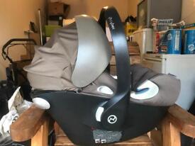 Cybex khaki car seat & isofix base