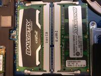 Crucial Ballistix Sport DDR3 SODIMM 16GB (2x8GB) 1866MHz PC3-14900 10-10-10-30 1.35v boxed