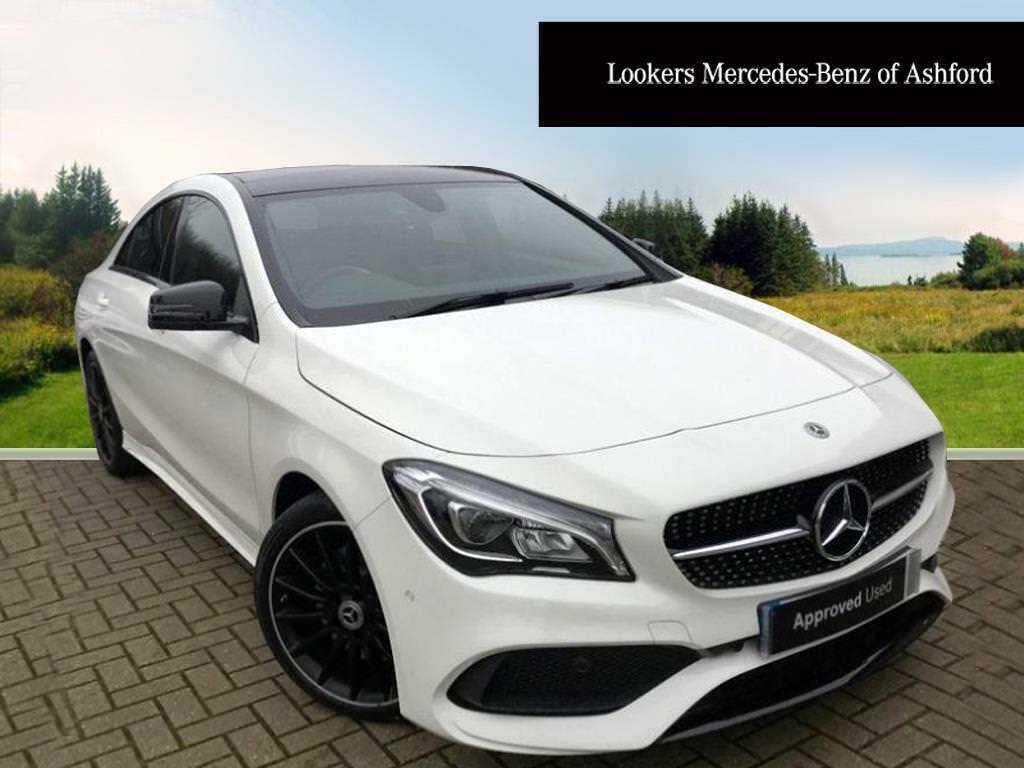 mercedes benz cla cla 220 d amg line white 2017 12 29. Black Bedroom Furniture Sets. Home Design Ideas