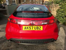 HONDA CIVIC EX 2.2 CTDI SAT NAV RED BLUETOOTH CRUISE 6 SPEED 12 MONTHS MOT FULL SERVICE 2 OWNERS