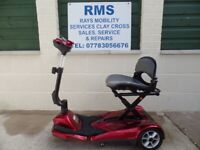 Mobility Scooter Drive Auto-Fold-Up Easy-Move 3 Wheel 4mph C/Boot scoo