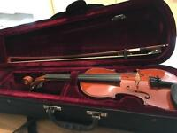 1/4 Size Violin With Case and Bow