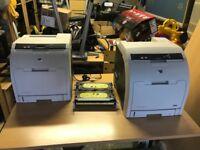 2x HP Color LaserJet 3600dn Printers