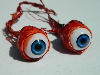 Halloween Horror Prop Realistic Life Size Pair of  Ripped Out Eyeballs -  FE02 (Life Size Horror Props)