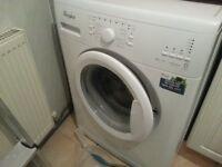 White Whirlpool 6KG A+++ 1400 RPM washing machine