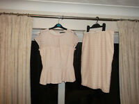 Atmosphere peach lace skirt and peplum top. Size 10 (NEW)