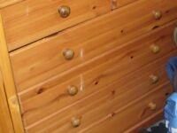 large 6 drawer pine drawers