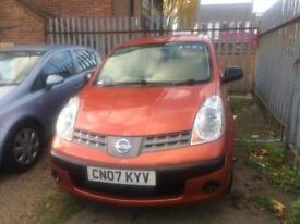Nissan note 1.4L Petrol 2007