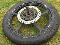 YBR 125 08 Front Wheel and New Michellin PIlot Street Tyre