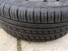 Pirelli p7 tyre with wheel/rim
